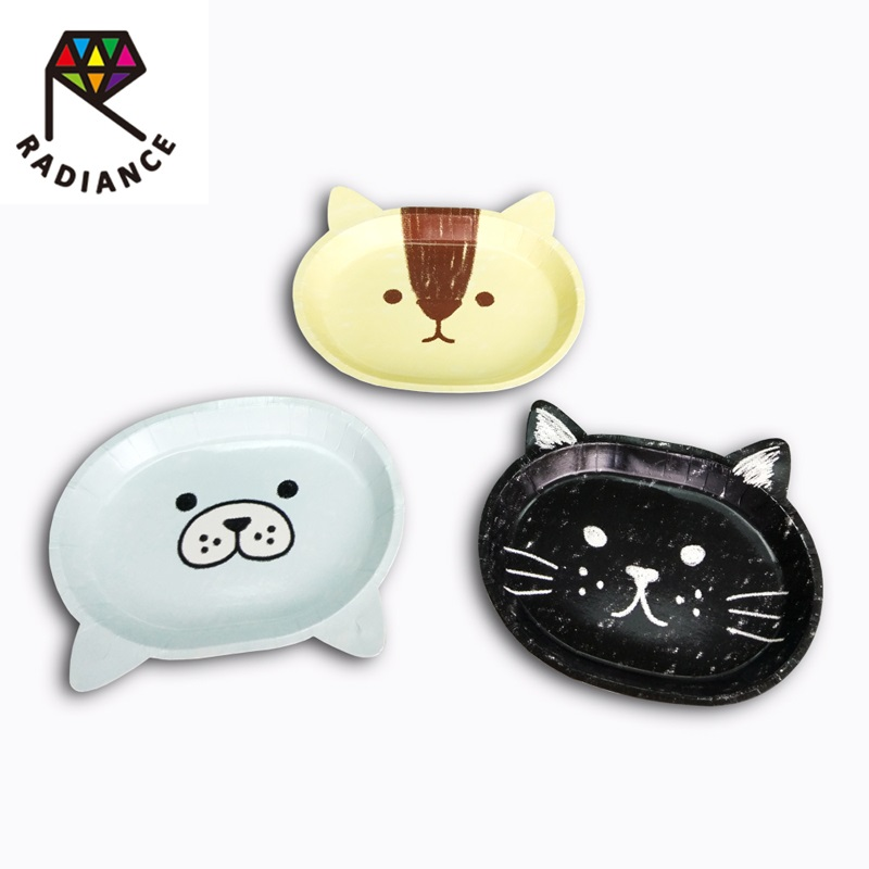 2*21*18cm Animal Shape Paper Plate