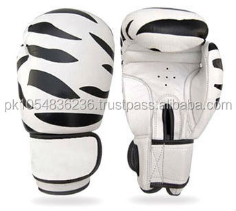 zebra printed boxing gloves