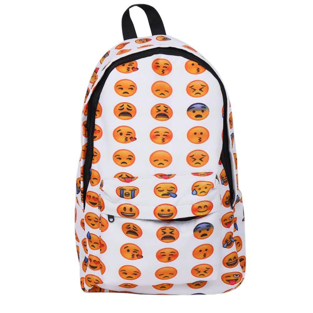 c7df55382f63 Get Quotations · Cute Emoji Backpack for Kids Cool Backpack Purse Book Bag  School Bag Cool