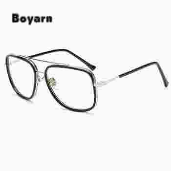 Boyarn Vintage Men Eyeglasses Frames Women Clear Lens Glasses Square ...