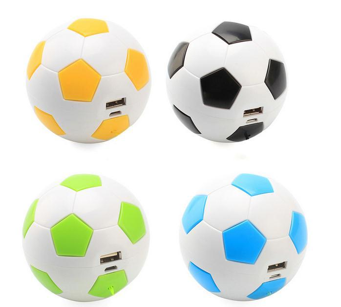 Football ball power bank 2600mah gift for European Cup