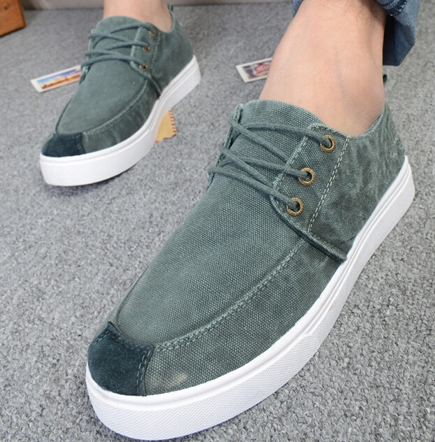 D10026B wholesale spring new type white sneakers washed jean men's Casual shoes