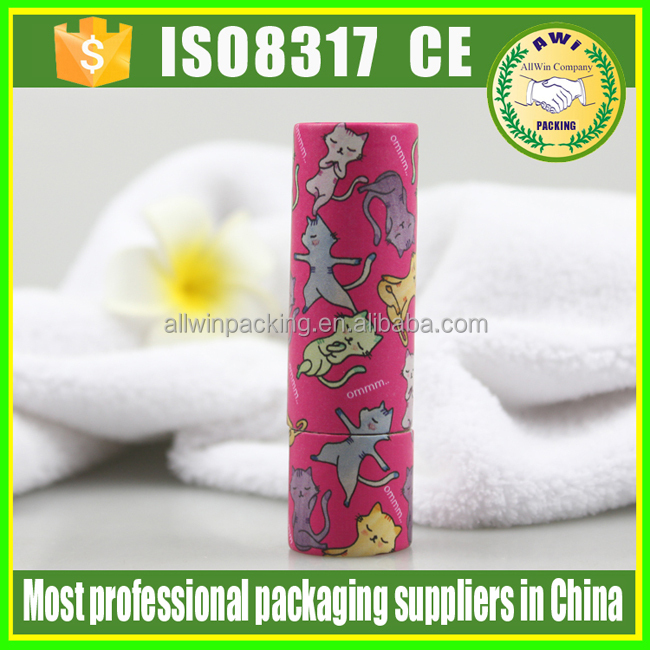 lip balm round box , 10ml lip balm paper tube , lip balm paper container