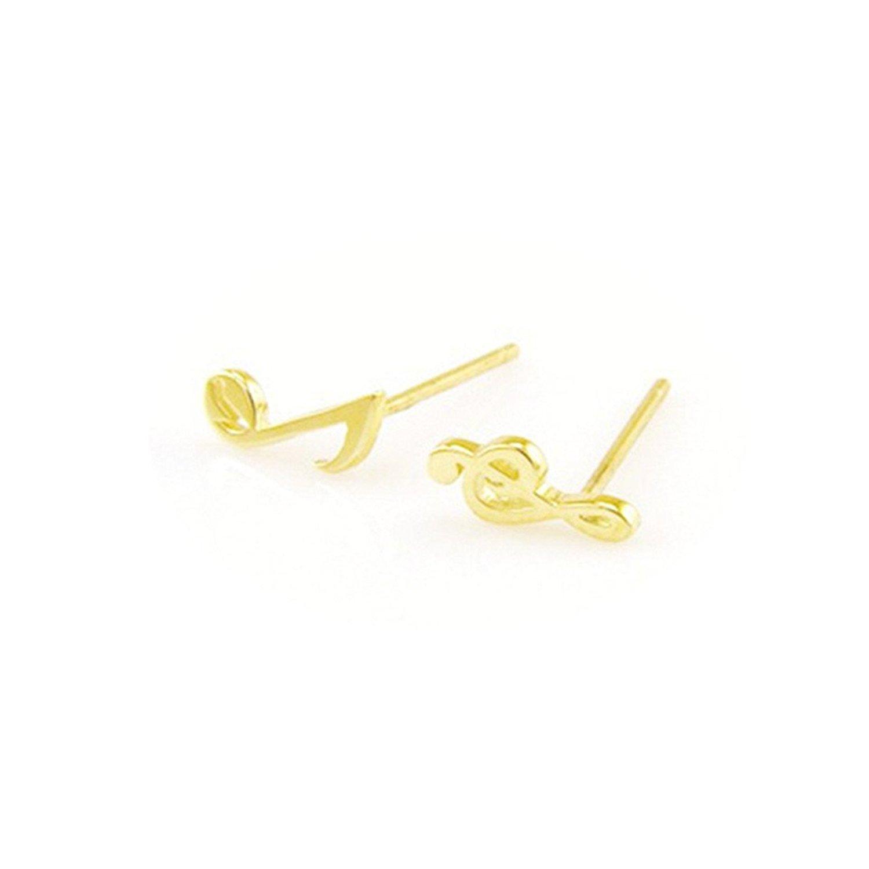Music Note Earrings, Treble Clef Earrings, Gold & silver Stud Earrings, Music Note Jewelry, Minimalist Earrings