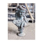 Antique Lady Bust Statue Sculpture, Rustic Cast Iron beautiful Lady Statues