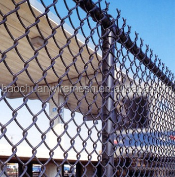 11 gauge high quality commercial color chain link fence