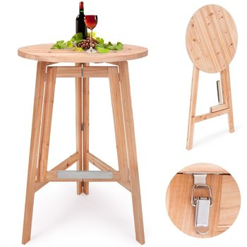 Folding Wooden Bar Table High Seat Stool