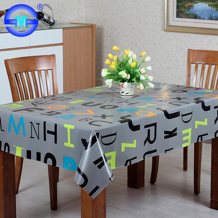 Cheap Custom Printed Design Vinyl Round Tablecloth Australia With  Elasticized Edge 60 X 102