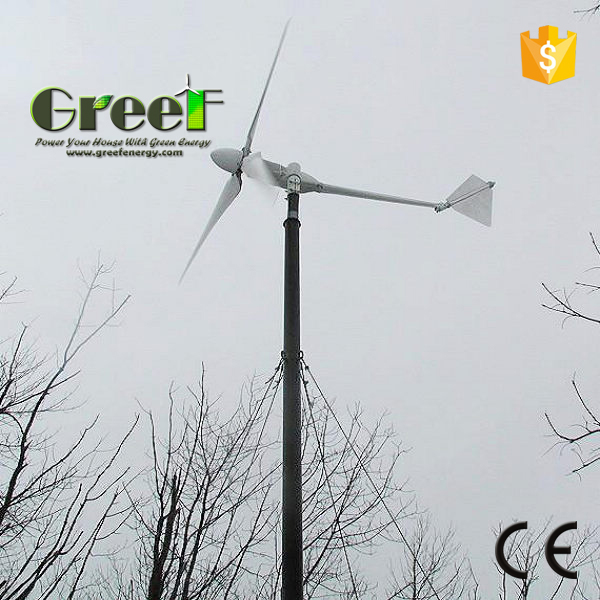 Household wind turbine 1000 watt, ac 3 phase wind generator, small windmill 1kw