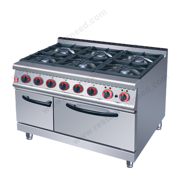 Full Series Kitchen Equipment Free Standing 4/6 Burners gas range