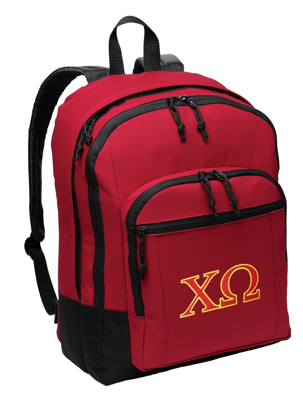 Chi Omega Backpack MEDIUM CLASSIC Style With Laptop Sleeve
