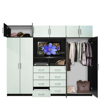 Australian Design Bedroom Wardrobe Closet With Tv Cabinet