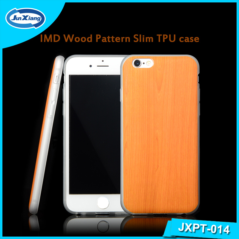 Mobile phone accessories,wood grain leather phone case for iphone 6 case