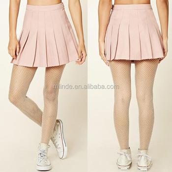 dbe1e46de9ff School Uniform Design Skirt Juniors Fancy Solid Blank Woven Mini Fashion  Sexy Allover Pleated Mini Skirt