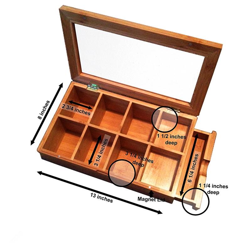 High Quality High Quality Bamboo Tea Storage Box