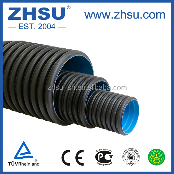 Hdpe Double Wall Corrugated Pipes For Waste Water
