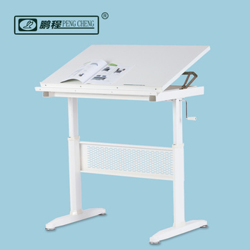 Fabulous Hand Crank Height Adjustable Drafting Table With Tilt Top Drawing Desk Architecture Workstation Buy Solid Wood Drafting Table Standing Drawing Home Interior And Landscaping Mentranervesignezvosmurscom