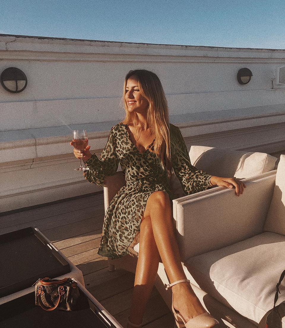 OOTN 2019 Vestidos Mujer Fashion Autumn Winter Elegant Short Party Dress V Neck Long Sleeve Wrap Dress Leopard Women Sexy Dress