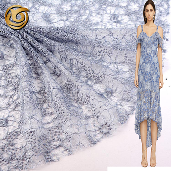 Good price fashionable popular 100 polyester sequin fabric embroidery