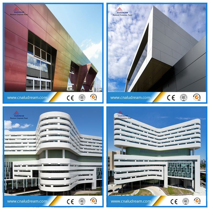 Exterior Aluminium Composite Panel Curtain Wall Cladding