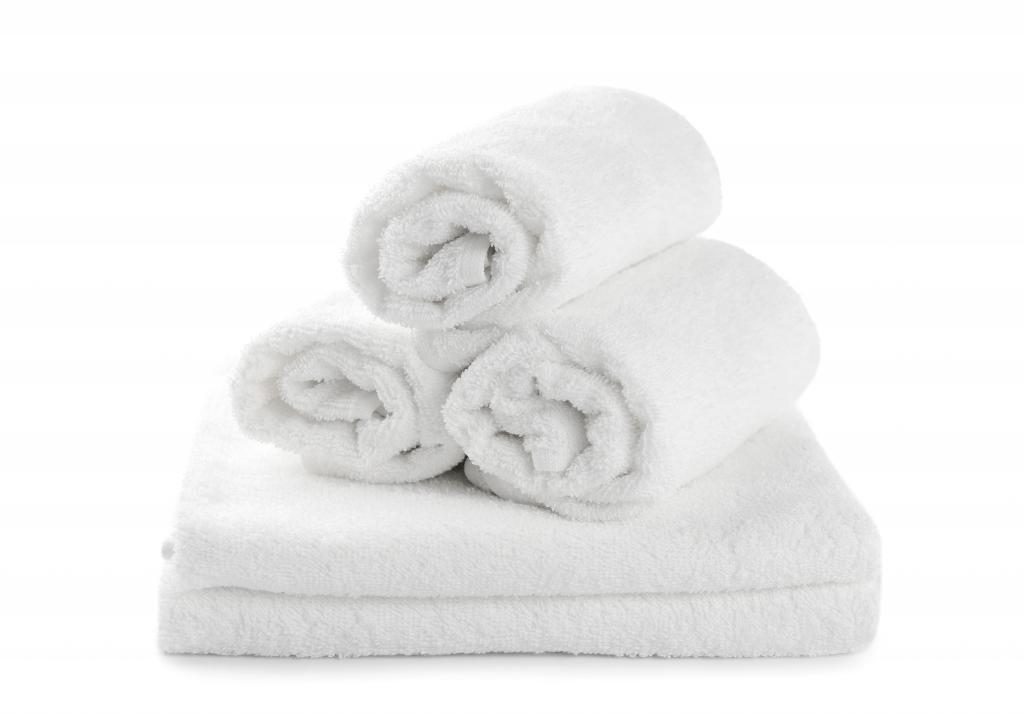 "12-Pieces Salon Gym Spa Hand Ring Spun Towels, 16x27"" White Eco-Friendly 100% Cotton - by Atlas"