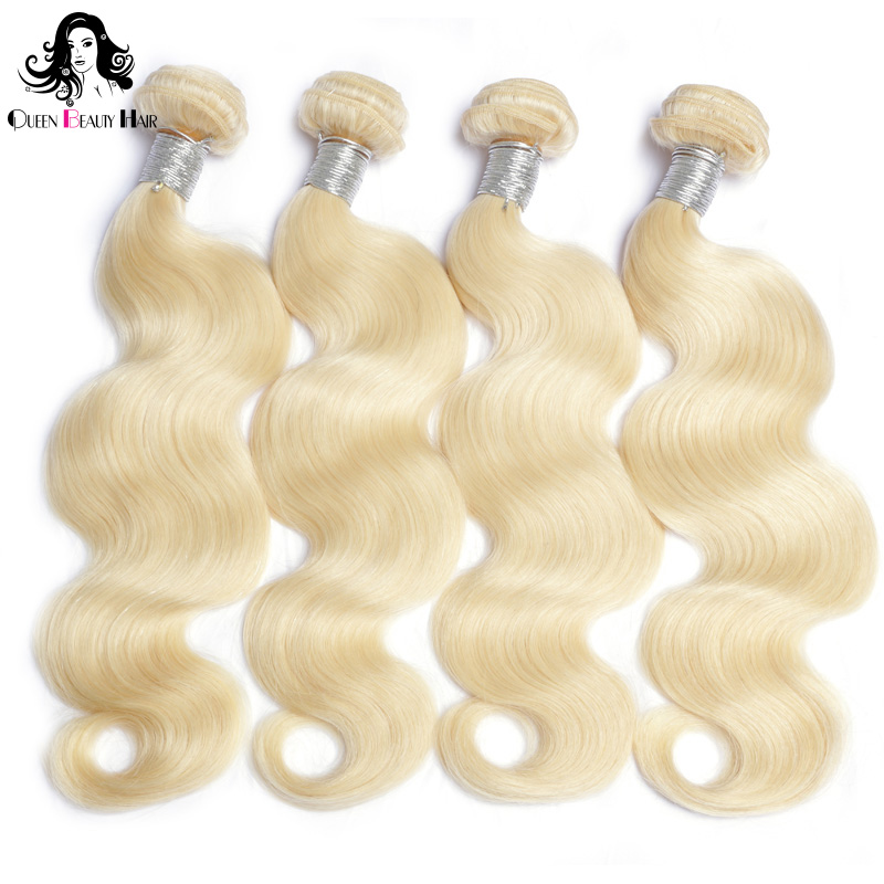 3/4 Bundles With Closure Competent Mqyq Kinky Curly #613 3 Bundles With Lace Frontal Closure Honey Blond Malaysian Curly Bundle With Ear To Ear Closure Deal
