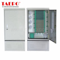 Single-sided double doors 576 fibers Outdoor SMC fiber optic cross connect telecommunication cabinet