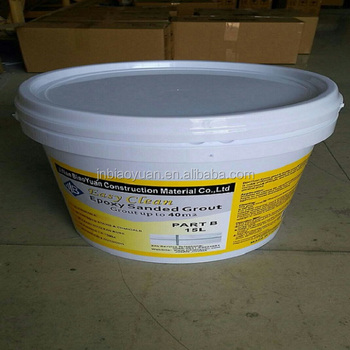 Waterproof Multicolor Flexible Floor Tile Grout Epoxy Cement