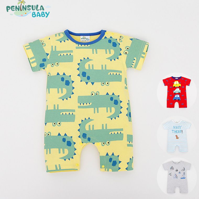 Baby Rompers Animal Cartoon Cotton Baby Wear Summer Short-Sleeved Infant Jumpsuit Boy Girl Baby Clothing Newborn Bebe Bib Romper