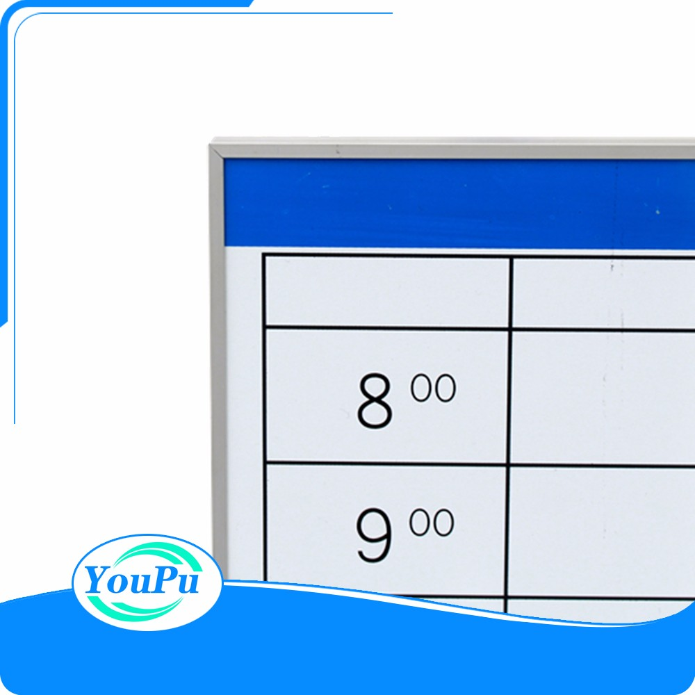Custom planning content memo board surface with offset printing calendar planner office notic board