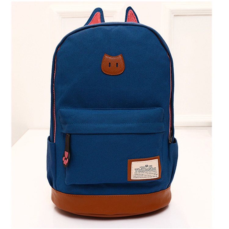 d0777cc2fb2e Get Quotations · 2015 Cartoon Pretty School Bags for Girls Canvas Cat  Designer Backpack Women Children Bag Teenager Boys