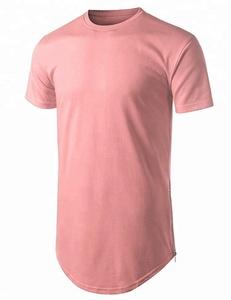 Men's Hip Hop Basic Cotton Longline T Shirt