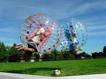 Giant outdoor inflatable bubble ball soccer ball for kids and adults