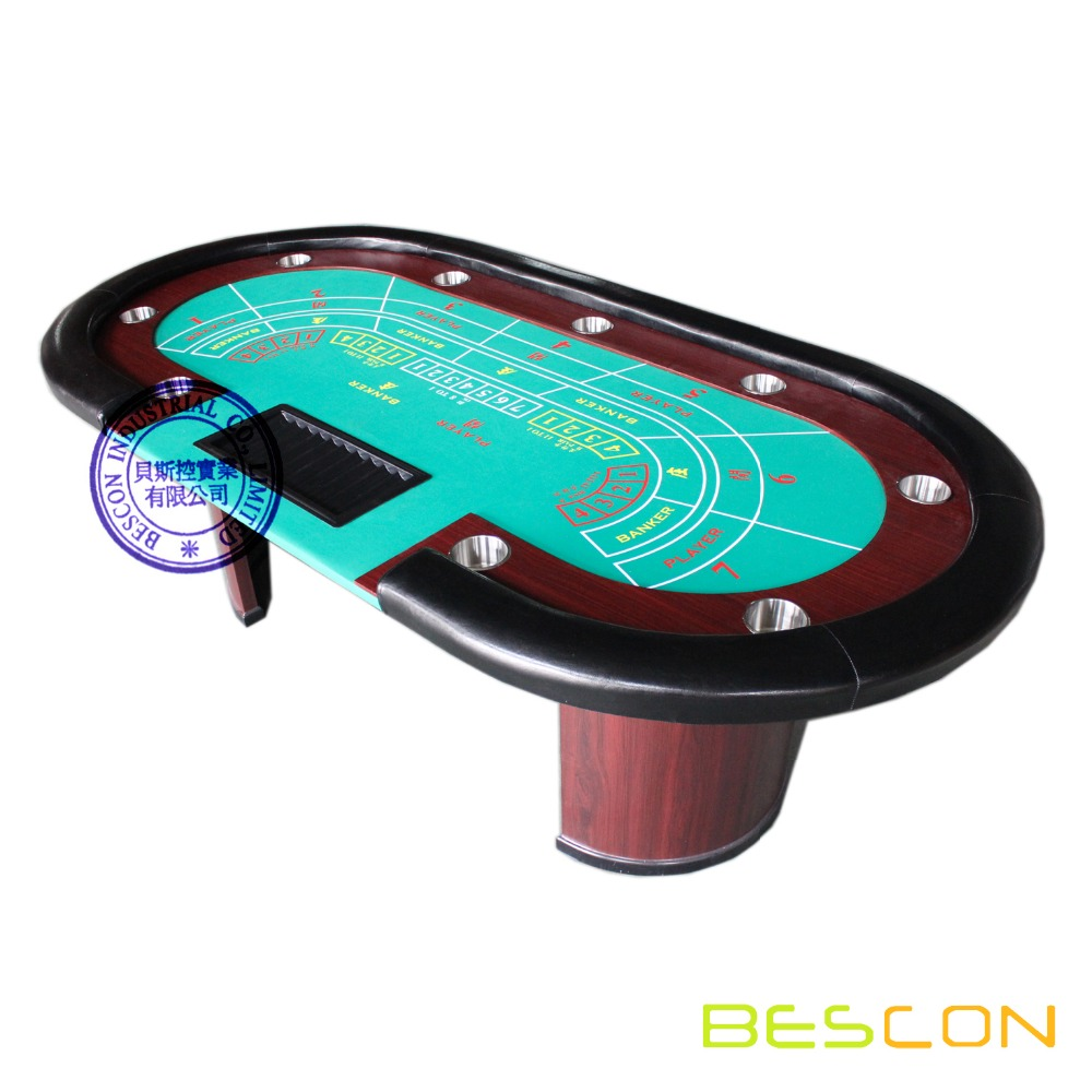 Professional Luxury Baccarat Poker Table With Chip Tray   Buy Baccarat Poker  Table,Poker Table,Casino Table Product On Alibaba.com
