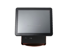 "restaurant equipment 15"" two touch screen POS system / Android POS / POS terminal"