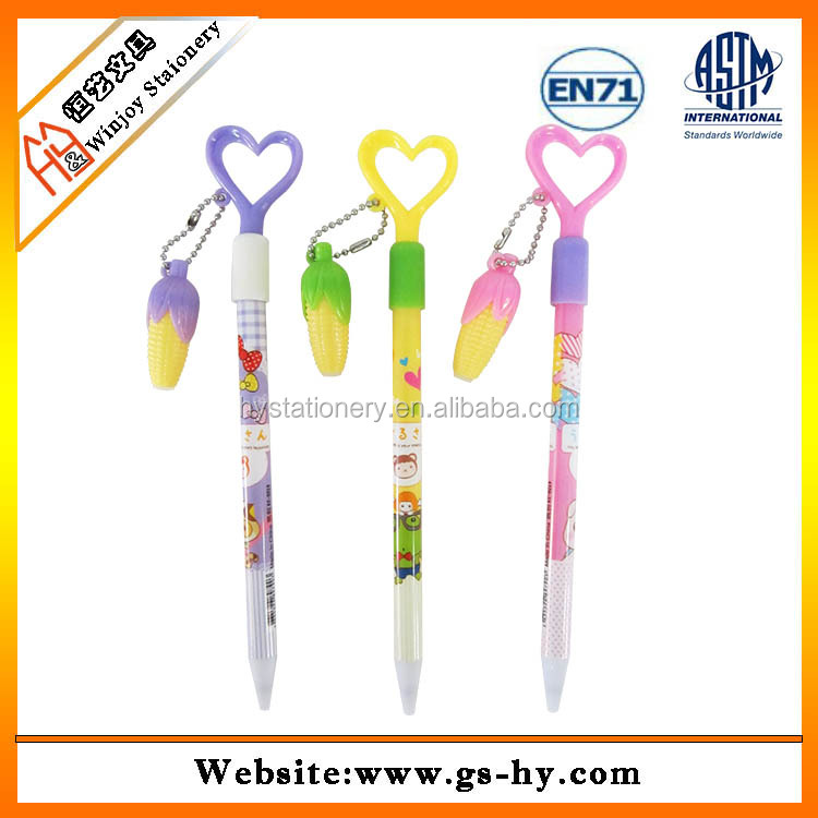 promotional plastic ball pen with key chain