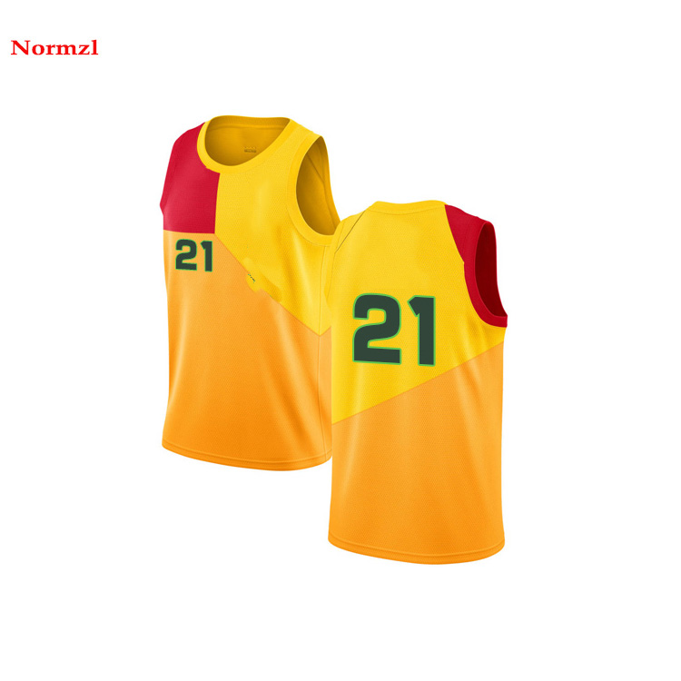 OEM Basketball Jersey Design Farbe Gelb Sublimation Basketball Kurze