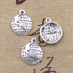 Globe Charms Antique Silver Lovely Mini Globe World Map Charm Pendants Earth Pendants