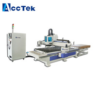 China ATC auto-feeding cnc router wood working machine for furniture AKM1325AF cnc wood engraving machine for sale
