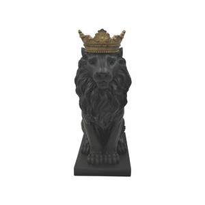 Hot Sale Personalized Handmade Polyresin Stone Lion Figurine