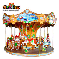 HR-QF031 Amusement carousel machine 3d kiddie ride horse for sale coin operated hot horse riding sport game machine