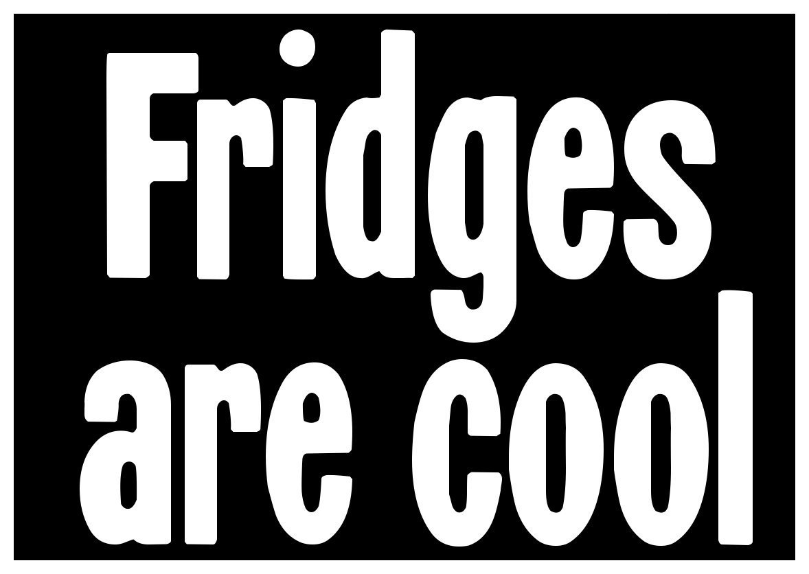 New black comedy sticker fridges are cool cute funny sweet childish ironic fun