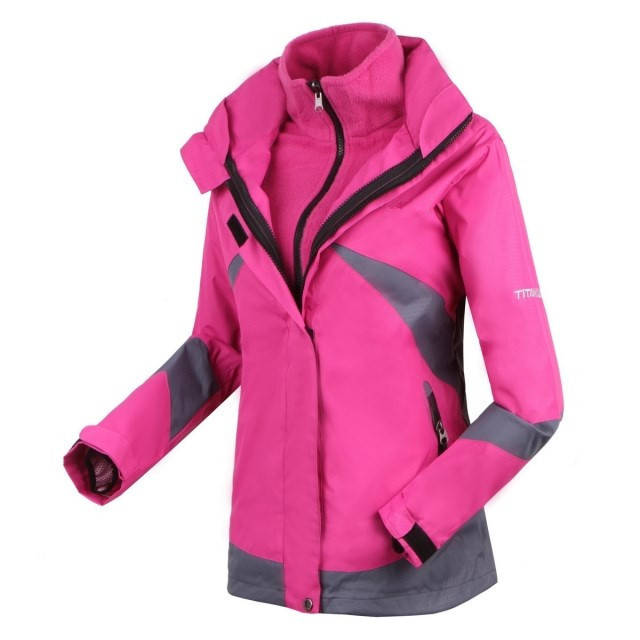 2015 High Quality winter Outdoor outwear waterproof warm for Women's Female Double Layer 2in1 skiing Climbing coats face jackets