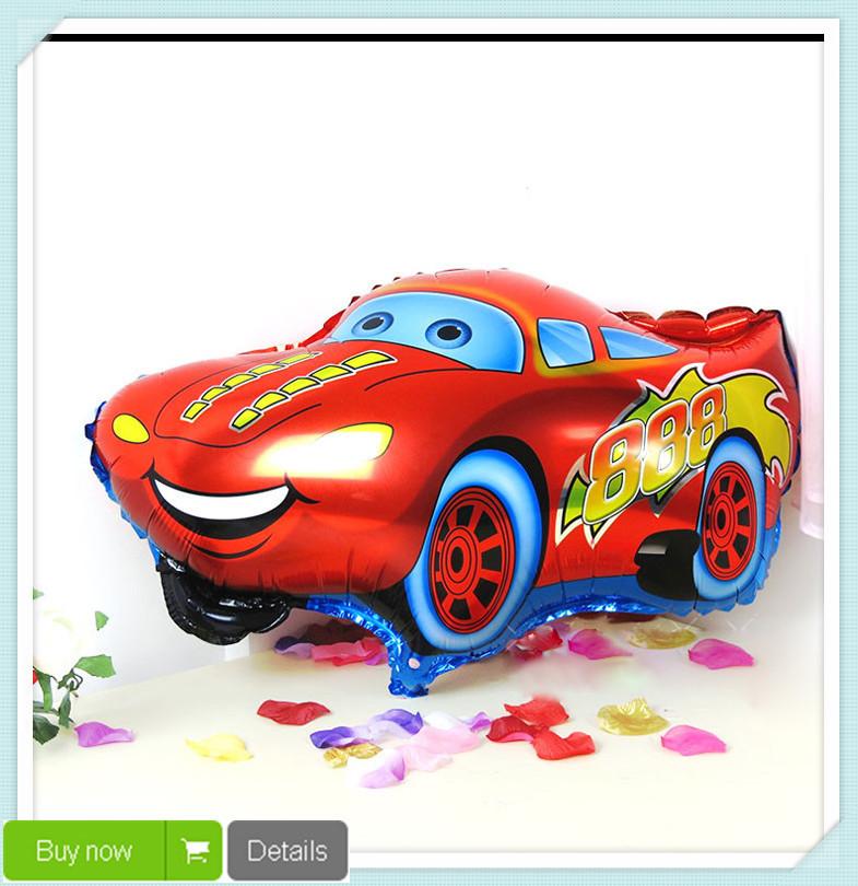 1 pc livraison gratuite de bonne qualit couleur rouge voiture foil balloon ballon d 39 h lium. Black Bedroom Furniture Sets. Home Design Ideas