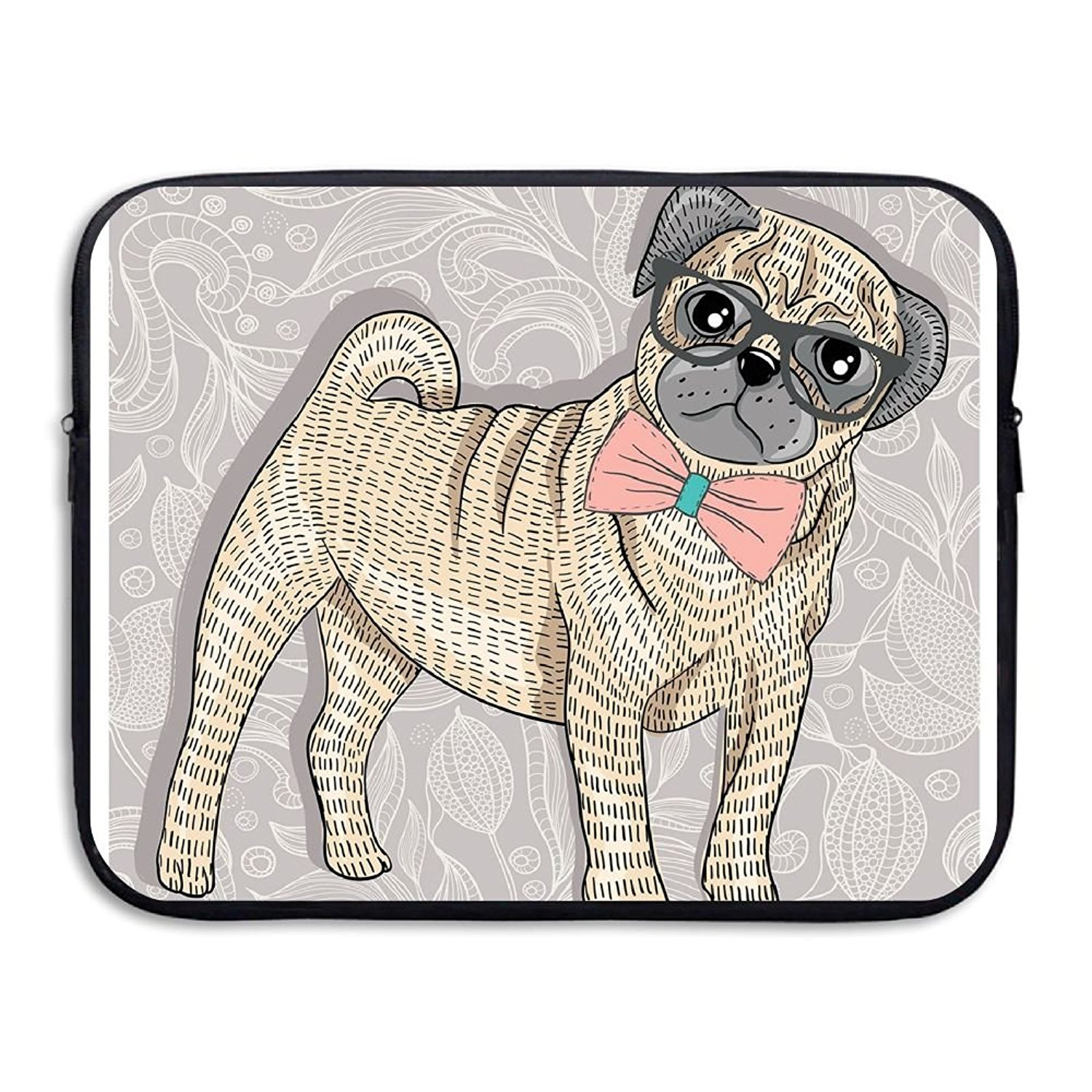 c7418a4e8d8e Buy XINSHOU Womens Hipster Pug With Nerdy Glasses And Bow Tie ...