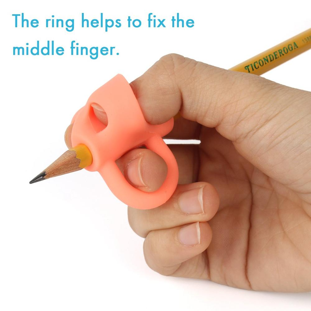 Pencil Grips,New Breakthrough Writing Aid Grip Trainer Posture Correction Finger Grip for Kid Special Needs for Lefties or Right