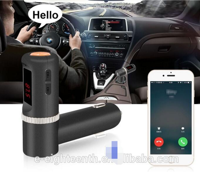 2016 hot sem fio bt / usb / mic car mp3 player transmissor fm carregador
