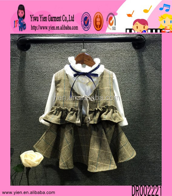 2015 Boutique Shop Hot Dashiki Kids Girls Dress Two Piece Autumn Outfit Latest Dress Designs For Kids