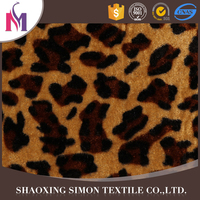 Cheap price recycled cotton weft knitting polyester crushed velvet dresses fabric