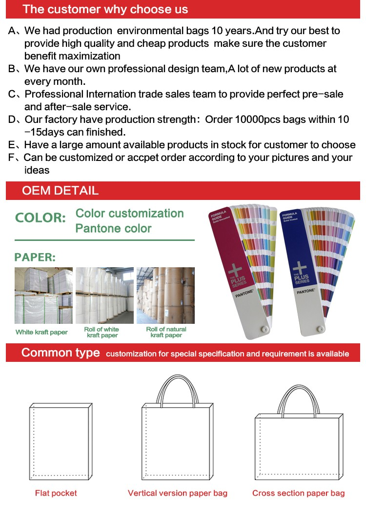 378209781f Custom order recyclable feature plain brown kraft paper bags with logo print